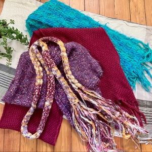 Knit Scarf Bundle- H&M and Anthro
